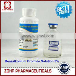 braod spectrum disinfectant 5% Benzalkonium Bromide Solution for aquatic animals