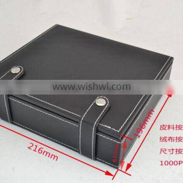 2015 custmized pack box leather wine box