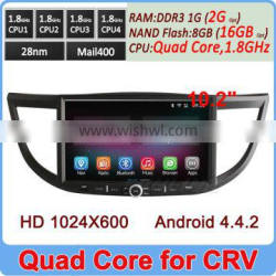 Ownice New Quad Core 1.6GHz CPU Android 4.4.2 gps navigation radio for CRV 2014 HD 1024*600