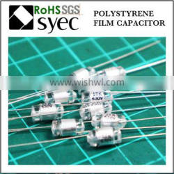 Factory Brand Axial Lead 820pF 50V Polystyrene Film Capacitor