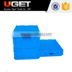 With conduplicate lid high quality plastic square stackable package crate