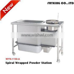Fast food kitchen equipment commercial electric wrapping powder table