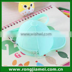 2016 Hot Selling Cap Shaped Zipper Silicone Small Coin Purse
