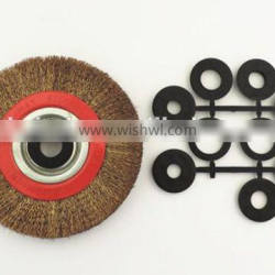 professional factory brass round wire brush for cleaning