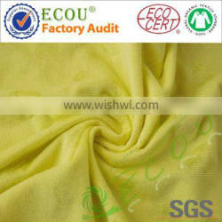 Custom solid cotton polyester jacquard knit fabric