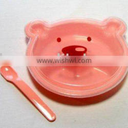 Plastic Baby Bowl With Spoon lunch box with hidden handle