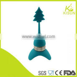 The Christmas tree metal tea infuser with Eiffel tower stand