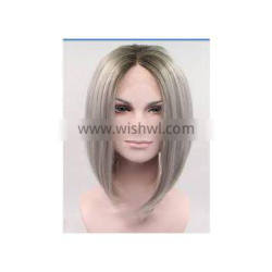 Silky Straight Clean Full Lace Malaysian Human Hair Wigs 18 Inches Indian