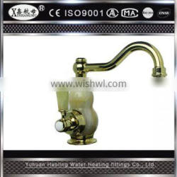 Hot Sale Cheap Deck Mounted Pull Out Spray Brass Antique Kitchen Faucet