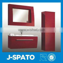 2016 Solid Wooden Glass Top PVC Bathroom Cabinets PVC-8201
