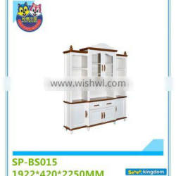 Study room teachers' office combination solid wood bookcase with glass doors#SP-BS015