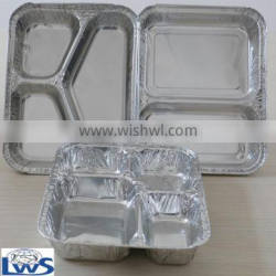 disposable divided aluminum foil container for catering