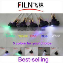 New style,12VDC,,50pcs/lot ASW-20D, 5 colors LED switch box for car
