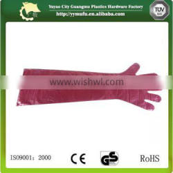 Disposable Long Glove with five fingers long arm gloves