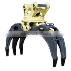 Jiangtu Rotary Timber Grapple For 4-40 ton Excavator
