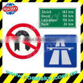 Reflective International Street Signs With Aluminum Board Made In China