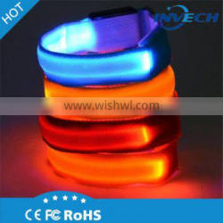 Best price portable outdoor sports safety led light elastic wrist band