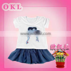 China best sale high quality casual little girl dresses