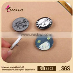 Made in china promotional pin button badge with safety pin