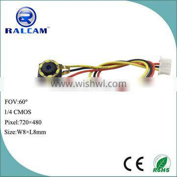 3.3V~3.6V 8mm*8mm mini infrared camera module for cheating tools