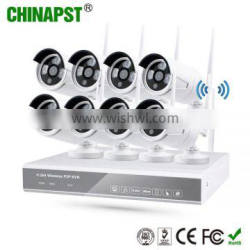 2016 Wireless Home Surveillance Android/IOS APP Hd 8Ch Ip Bullet Camera WiFi IP Camera NVR PST-WIPK08AH
