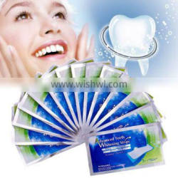 Dental teeth whitening strips for 14 pairs on box with powerful effect