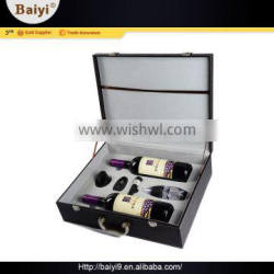 Luxury Quality Dual-Blade Bar Accessories Wood Gift Box Set For Wine