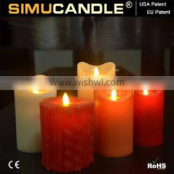 simulated flame led candle with realistic flame with USA and EU patent with remote