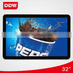 32 inch wall mount touch screen lcd advertising player display
