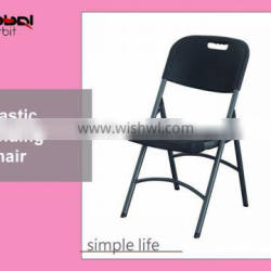 Durable Chair Metal Frame Stackable Black Folding Plastic Party Wedding Chair