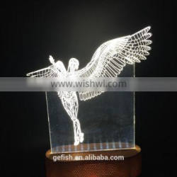 Hot acrylic 3D lamp for Christmas gift