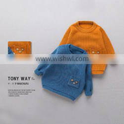 S16720A high quality pullover children knit sweater