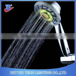 China Supplier Color Changing ABS Chrome Plated LED Light Rain Bath Shower