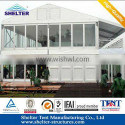 20x50m Glass Wall Double Storey Tents For Sale