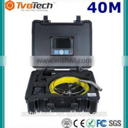 20M/40M Flexible Push Cable Drain Pipe Inspection Camera System With Memory DVR And Meter Counter, Wireless 512hz Sonde