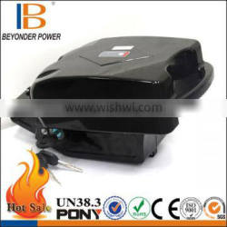Small frog type light weight lithium 3.7v 4000mah battery with bms for e-bike, capacity and size can be customized
