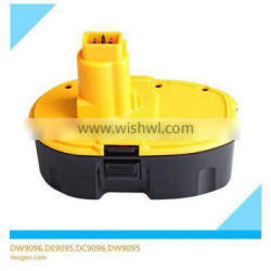 high capacity NI-CD power tool battery for DeWalt DW9096 DE9095 DC9096 DW9095 rechargable batteries 18v for power tool