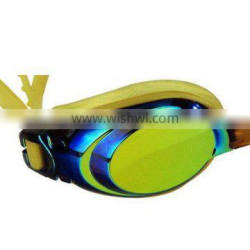 mirror coated swimming goggles