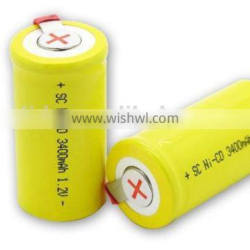 NiCd Battery Sub-C Manufacturer with CE,ROHS,UL certificates