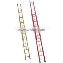 Metal anchor movable fiberglass insulated extension working ladder lcs420GFA1
