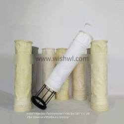 white pocket shape high temperature resistant air filter PTFE filter bag for waste incineration plant
