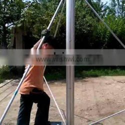 Remote distant control electro screw telescopic mast pole with electrical actuator