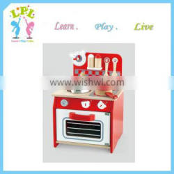2016 custom wholesale kids toy and role play specific use wooden kitchenware