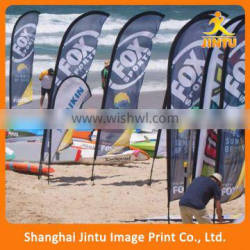 2016 printing concave feather flags outdoor beach flags display feather flags