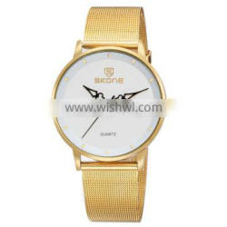 2016 Luxury Watch Top brand SKONE Watches,stainless steel mesh woven band mens watches