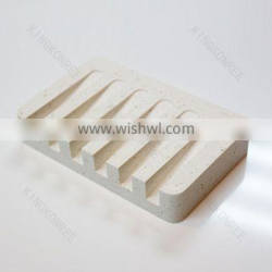 Custom size solid surface stone shower soap dish