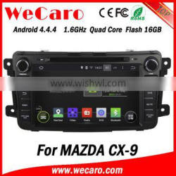 """Wecaro Android 4.4.4 navigation system 8"""" 1024 * 600 for nissan qashqai dvd player android wheel steering control 2014 2015"""