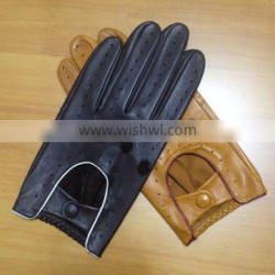 Custom men's Motorcycle Cycling gloves Thin Driving leather glove for men