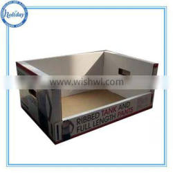 biodegradable cheap cardboard display, stackable pallet pants PDQ display