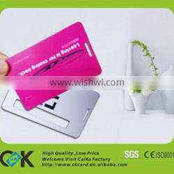 Low Price! Custom eco-friendly hard plastic tag with full color printing